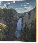 Yellowstone River Lower Falls Wood Print by Michael J Bauer