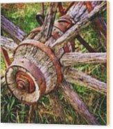 Yesterday's Wheel Wood Print by Marty Koch
