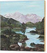 Yosemite Meadow Wood Print by Anastasiya Malakhova