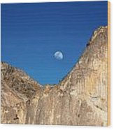 Yosemite Moonrise Wood Print by Jane Rix