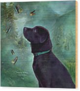 Young Lab And Buttys Wood Print by Carol Cavalaris