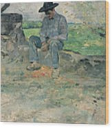 Young Routy At Celeyran Wood Print by Henri de Toulouse-Lautrec