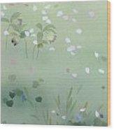 Yumezakura Crop Wood Print by Haruyo Morita