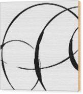 Zen Circles 3 Wood Print by Hakon Soreide