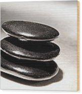 Zen Stones Wood Print by Olivier Le Queinec