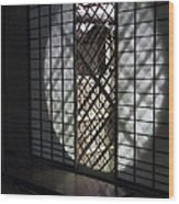 Zen Temple Window - Kyoto Wood Print by Daniel Hagerman