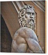 Zeus Wood Print by Lee Dos Santos