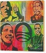 4 Barack  Wood Print by Tony B Conscious