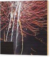 Bastille Day Fireworks Wood Print by Sami Sarkis
