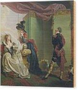 Malvolio Before Olivia - From 'twelfth Night'  Wood Print by Johann Heinrich Ramberg