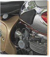 1966 Bsa 650 A-65 Spitfire Lightning Clubman Motorcycle Wood Print by Jill Reger