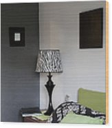 A Bedroom In A House. A Double Bed Wood Print by Christian Scully