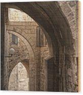 Alley In Jerusalem Wood Print by Noam Armonn