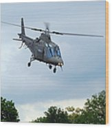 An Agusta A109 Helicopter Wood Print by Luc De Jaeger