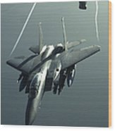 An F-15e Strike Eagle Flies Over Iraq Wood Print by Stocktrek Images