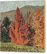 Autumn Landscape Wood Print by Henri-Edmond Cross