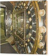 Bank Vault Interior Wood Print by Adam Crowley