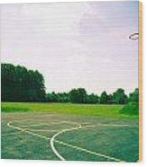 Basketball Court Wood Print by Tom Gowanlock