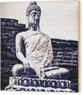 Buddha Statue Wood Print by Thosaporn Wintachai