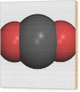 Carbon Dioxide Molecule Wood Print by Friedrich Saurer
