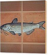 Catfish Wood Print by Andrew Drozdowicz