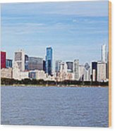 Chicago Panorama Wood Print by Paul Velgos