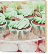 Cup Cakes Wood Print by Tom Gowanlock