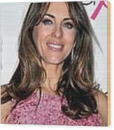 Elizabeth Hurley At A Public Appearance Wood Print by Everett