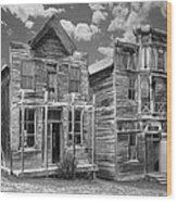 Elkhorn Ghost Town Public Halls - Montana Wood Print by Daniel Hagerman