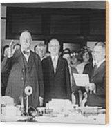 Ex-president William Howard Taft Wood Print by Everett