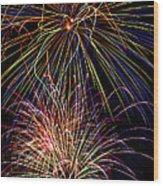 Fireworks Celebration Wood Print by Garry Gay