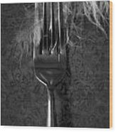 Fork And Feather Wood Print by Joana Kruse