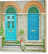 Front Doors Wood Print by Tom Gowanlock