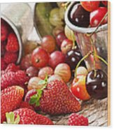 Fruits And Berries Wood Print by Elena Elisseeva