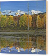 Full Moon Over East Beckwith Mountain Wood Print by Tim Fitzharris