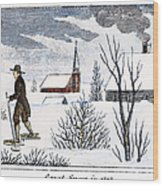 Great Snow Of 1717 Wood Print by Granger