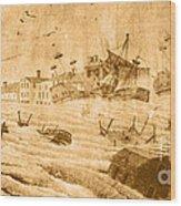 Hurricane, 1815 Wood Print by Science Source