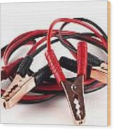 Jumper Cables Wood Print by Blink Images