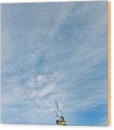 Kite Board Wood Print by Elijah Weber