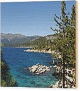 Lake Tahoe Shoreline Wood Print by Scott McGuire