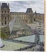 Louvre Museum. Paris Wood Print by Bernard Jaubert