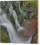 Lower Buttermilk Falls Wood Print by Stephen  Vecchiotti