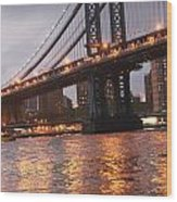 Manhattan Bridge Wood Print by Nina Mirhabibi