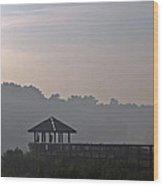 Morning Fog Wood Print by Farol Tomson