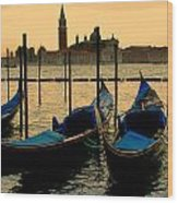 Morning In Venice Wood Print by Barbara Walsh