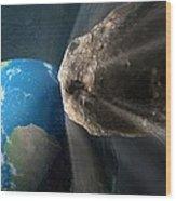 Near-earth Asteroid, Artwork Wood Print by Henning Dalhoff