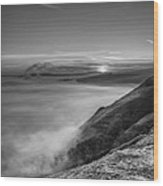 Peak District Sunrise Wood Print by Andy Astbury