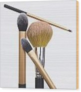 Powder And Make-up Brushes Wood Print by Bernard Jaubert
