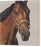 Quarter Horse Wood Print by Ann Marie Chaffin