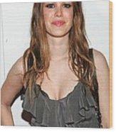 Rachel Bilson At A Public Appearance Wood Print by Everett